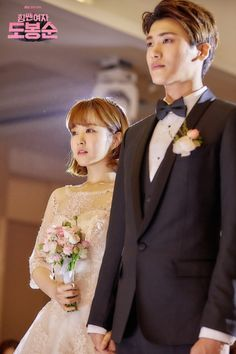 Korean Wedding Inspiration from Strong Woman Do Bong Soon ft. Park Bo Young & Park Hyung Sik - do bong soon wedding park hyung sik park bo young -