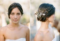 Absolutely beautiful #wedding hair!  From http://greenweddingshoes.com/intimate-mexico-wedding-mila-shawn/  Photo Credit: http://jillianmitchell.net/
