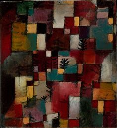 Redgreen and Violet-Yellow Rhythms / Paul Klee/ 1920 / Oil and ink on cardboard