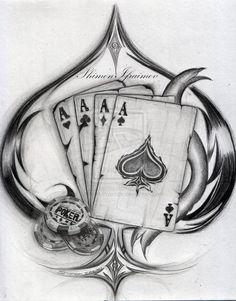see more luck tattoo card tattoo pretty tattoos awesome tattoos henna tattoos drawing tattoos tatoos spade Kritzelei Tattoo, Luck Tattoo, Body Art Tattoos, New Tattoos, Sleeve Tattoos, Poker Tattoos, Henna Tattoos, Tatoos, Card Tattoo Designs