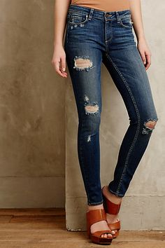 love the jeans, love the shoes!!!  Paige Verdugo Skinny Jeans #anthropologie