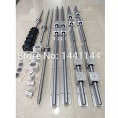 EU RU SBR 16 linear guide Rail 6 set + ballscrew set + CNC parts-in Linear Guides from Home Improvement on AliExpress Routeur Cnc, Diy Cnc Router, Vis A Bille, Homemade Gym Equipment, Router Sled, Diy Lathe, Lathe Tools, Panel Saw, Woodworking Bench Vise