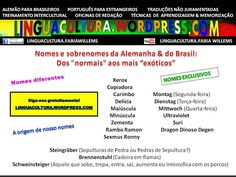 Nomes exóticos no Brasil e na Alemanha