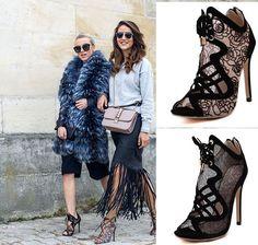 Women'S Open Toe Mesh Lace Up Stilettos High Heels Shoes Clubwear Sandals Roma