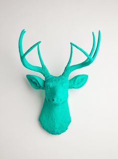 OVERSTOCK SALE  The Penelope  Turquoise Faux by WhiteFauxTaxidermy