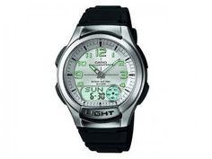 Relógio Masculino Casio Mundial AQ180V 7BVDF - Anadigi Resistente à Água