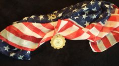 American Flag Chiffon Neck Scarf