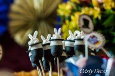 Cake pops coelhinhos na cartola...ownnn