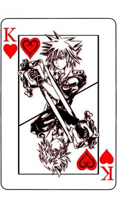 Kings of Heart Kingdom Hearts Tattoo, Kingdom Hearts Characters, Kingdom Hearts Fanart, Sora Kingdom Hearts, Cry Anime, Anime Art, Kingdom Hearts Wallpaper, Girls Anime, Heart Pictures