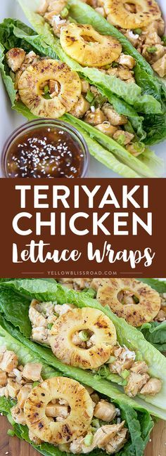 These Teriyaki Chicken Lettuce Wraps are a fun and delicious way to enjoy your favorite teriyaki chicken. Perfect for a light lunch or dinner, they are a whole meal wrapped up in a crunchy lettuce wrap.