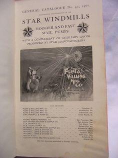 1901 Flint & Walling Windmill Catalog Star Wooden & Steel Vane Windmills | eBay