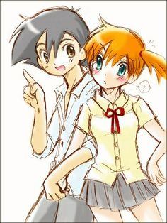 Misty drawings   Ash and Misty drawing - Pokeshipping and Contestshipping