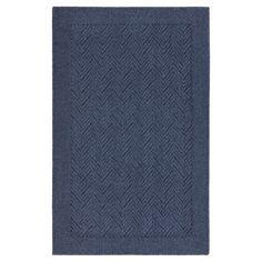 Chevron Accent Rug - Navy (Blue) (2'6x4') - Threshold