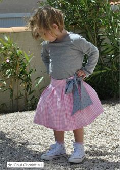 Une jupe Picadilly en vichy rose - p&m addicts Chut Charlotte, Vichy Rose, Couture, 2013, Skirts, Messages, Ideas, Poplin, Skirt