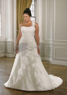 Ideas for Plus Size Wedding Dresses plus size wedding gown for broad shoulders Plus Size Wedding Gowns, White Wedding Dresses, Wedding Dress Styles, Bridal Dresses, Bridesmaid Dresses, Prom Dresses, Wedding Dresses For Curvy Women, Dresses 2013, Hippie Dresses