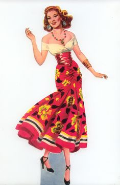 Carmen Paper Dolls Featuring Rita Hayworth, Doll 2                                                                                                                                                                                 More