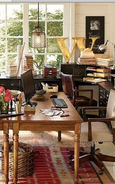 Love this space ~ I want to recreate it in our home office :)