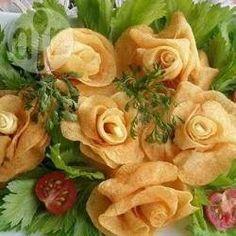 Papitas fritas en forma de rosas