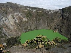 Irazu active volcano with a visit crater lake, Costa Rica