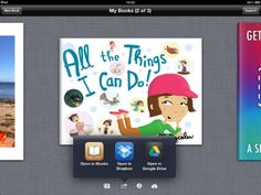Beskrivning av appen Book Creator:  The simple way to create your own beautiful iBooks, right on the iPad.  Read them in iBooks, send them to your friends, or submit them to the iBookstore.  Ideal for children's picture books, photo books, art books, cook books, manuals, textbooks...