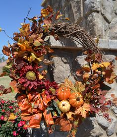 Your place to buy and sell all things handmade Wreaths For Front Door, Door Wreaths, Yellow Apple, Pumpkin Wreath, Sunflower Wreaths, Autumn Wreaths, Fall Season, Gourds, Greenery