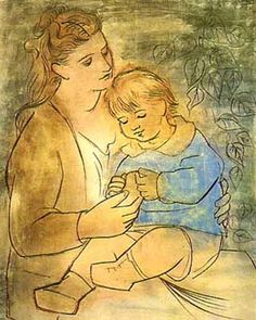 mother and child | Picasso- mother and child