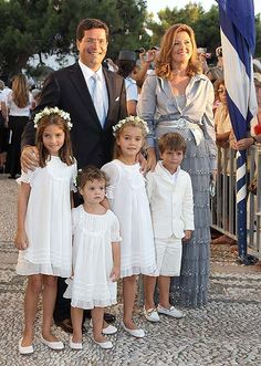 Princess Alexia of Greece and her husband Carlos Morales Quintana with their 4 children in 2010