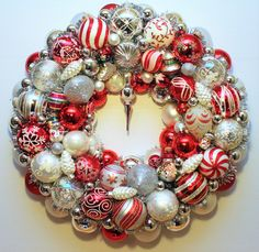 Judy Blank Christmas Ornament Wreath Snowman by judyblank on Etsy