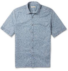 Burberry Brit Floral-Print Cotton Short-Sleeved Shirt | MR PORTER