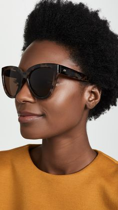 Flattering Sunglasses for Round Face Shapes Round Face Sunglasses, Le Specs Sunglasses, Rectangle Sunglasses, Stylish Sunglasses, Sunglasses Women, Sunnies, Bangs And Glasses, Glasses For Round Faces, Black Cat Eyes
