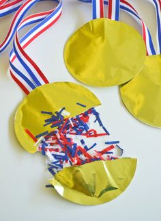 Olympic Confetti Gold Medals - SNAP!  http://snapcreativity.com/confetti-gold-medals/