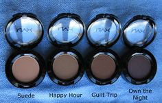 NYX Hot Singles eye shadow Suede, Happy Hour, Guilt Trip, Own the Night