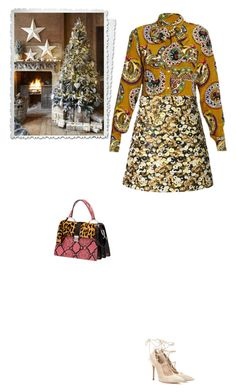 """""""#5662 - Its beginning to look a lot like Christmas"""" by pretty-girl-in-fashion ❤ liked on Polyvore featuring Stella Jean, Giamba, Miu Miu, Gianvito Rossi, Christmas, stellajean, miumiu and GianvitoRossi"""
