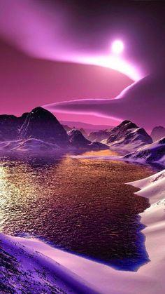 Contrastes violetas que nos brinda un amanecer, de gran belleza.