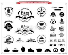 Vecteur : Vector Bakery Logo Templates, Labels and Design Elements