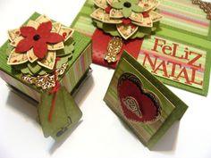 convite - lembrancinha e cartão com flor de tecido com papel