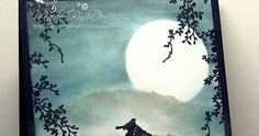 Hello .....   I have some moonlight to share today   I have used some Clarity stamps onto a PanPastel Background.         I am entering ...
