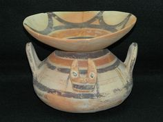 Antique Greek Pottery DAUNIA Culture Italy 600 B.C. Collectible Antiquities RARE