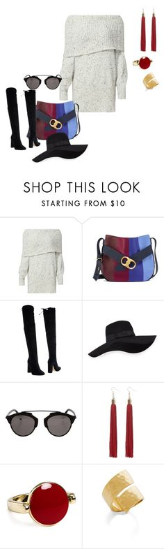 """""""Sweet sweater"""" by elisa-itgirl ❤ liked on Polyvore featuring Joie, Tory Burch, Bianca Di, San Diego Hat Co., Christian Dior, Aqua and BCBGMAXAZRIA"""