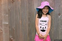 Create an adorable Camp Cutie Patootie custom tank or t-shirt for your little camper with this Cricut project from Hello Creative Family. Summer Fun For Kids, Happy Summer, Summer Diy, Cool Kids, Handmade Clothes, Diy Clothes, Clothes For Women, T Shirt Tutorial, Little Campers