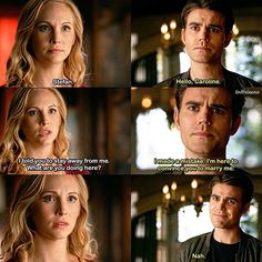 """[8x10 """"Nostalgia's A Bitch""""] See how Stefan is playing with my Caroline's emotions That's why I never liked him ▪️do you like more Caroline or Stefan?"""