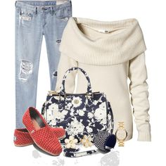 Floral & Dot Combo 2, created by lbite1 on Polyvore
