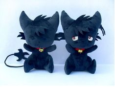 Anime SERVAMP Shirota Mahiru Kuro Black Cat Cosplay Soft Plush Doll Toy #Unbranded