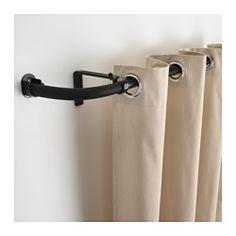 HUGAD comb barr cortnbalcón, negro Peso máx/barra cortina: 10.00 kg