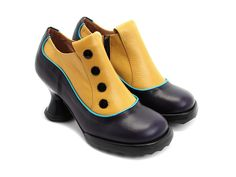 Bunny (Navy & Yellow) from Fluevog. AGHGH these shoes are SO AWESOME.
