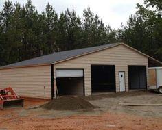 #502 Seneca Barn Shed Floor Plans, Shed Plans 12x16, House Plans, Goat Shed, Types Of Roofing Materials, Agricultural Buildings, Metal Workshop, Run In Shed, Metal Garages