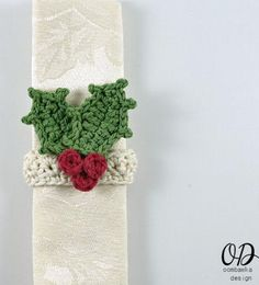 """Super easy to make - quickly add a little bit of handmade to your Christmas or holiday table setting with this quick napkin ring. Embellish with your favorite embellishment or with the holly embellishment."""