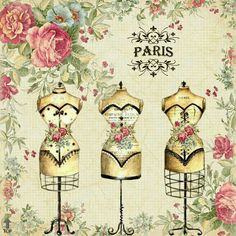 transfert thermocollant motif mannequins roses couture coussins tee shirt