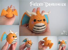 Felted Dragonite by =xxNostalgic on deviantART