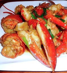 Discover Just how to prepare Chinese Seafood - Asiatische rezepte Seafood Boil Recipes, Lobster Recipes, Shellfish Recipes, Asian Lobster Recipe, Chinese Seafood Recipe, Chinese Food, Ginger Scallion Lobster Recipe, Korean Food, Fried Lobster Tail